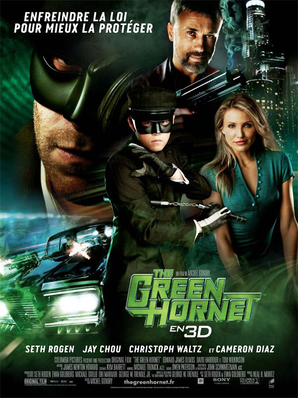 the green hornet_le frelon vert_seth rogen_jay chou_cameron diaz_christoph waltz_michel gondry_affiche_poster