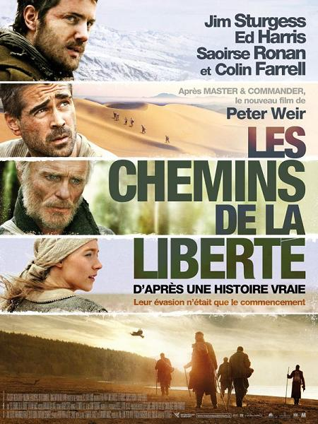 les chemins de la liberte_the way back_jim sturgess_colin farrell_ed harris_saoirse ronan_peter weir_affiche_poster