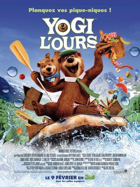 yogi l'ours_yogi bear_dan aykroyd_justin timberlake_anna faris_tom cavanagh_tj miller_eric brevig_affiche_poster