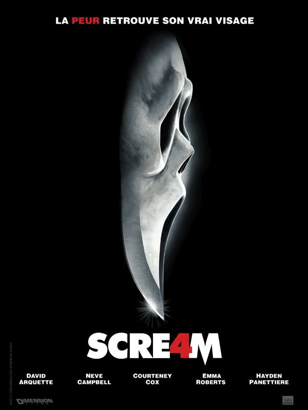 scream 4_neve campbell_courteney cox_david arquette_emma roberts_hayden panettiere_wes craven_kevin williamson_affiche_poster