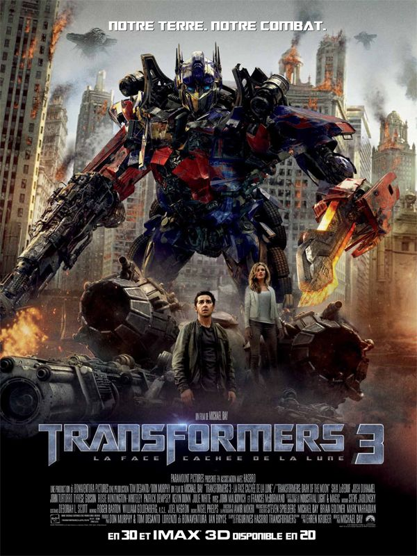 transformers 3_dark of the moon_face cachée de la lune_shia labeouf_rosie huntington-whiteley_michael bay_affiche_poster