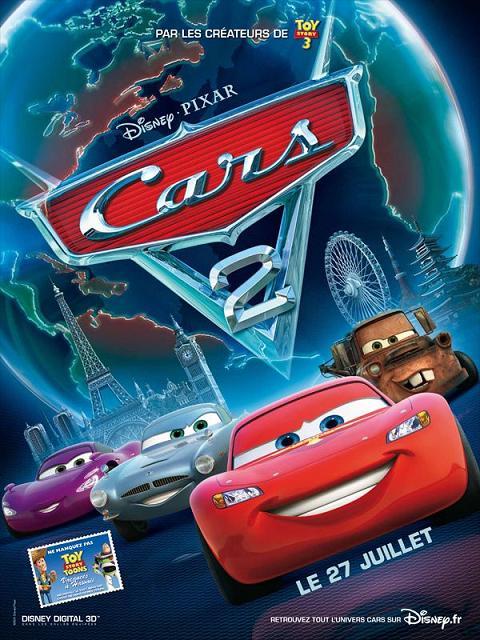 cars 2_pixar_disney_john lasseter_owen wilson_flash mcqueen_martin_affiche_poster