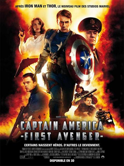captain america_first avenger_chris evans_hayley atwell_hugo weaving_stanley tucci_joe johnston_marvel_affiche_poster