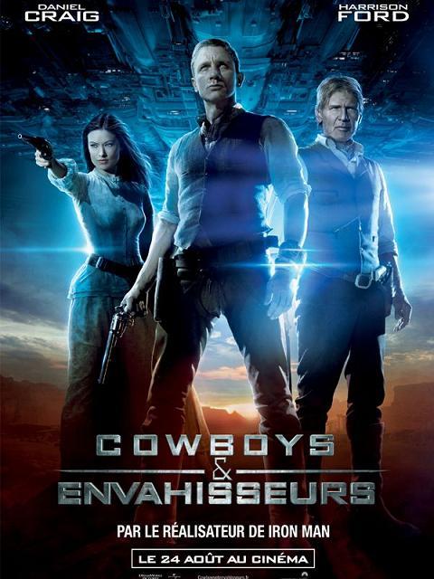 cowboys & envahisseurs_aliens_daniel craig_olivia wilde_harrison ford_sam rockwell_jon favreau_affiche_poster