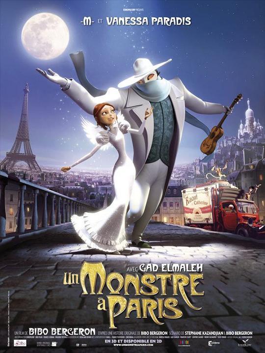 un monstre a paris_vanessa paradis_mathieu chedid_gad elmaleh_bibo bergeron_affiche_poster