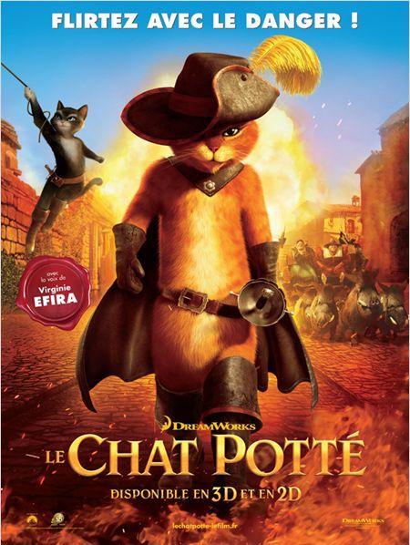 le chat potte_puss in boots_antonio banderas_salma hayek_chris miller_dreamworks_shrek_affiche_poster