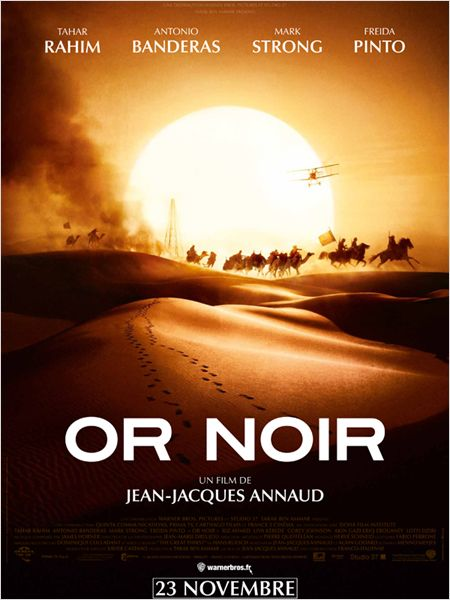 or noir_tahar rahim_antonio banderas_freida pinto_mark strong_jean-jacques annaud_affiche_poster