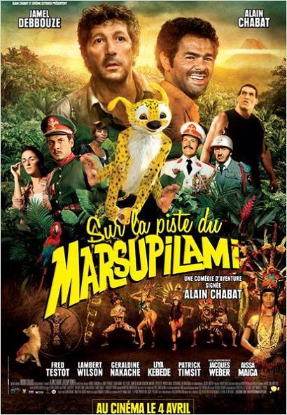 sur la piste du marsupilami_jamel debbouze_fred testot_alain chabat_affiche_poster