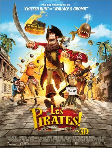 les pirates_edouard baer_peter lord_aardman_stop motion_affiche_poster