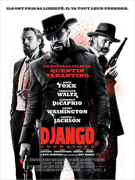 django unchained_jamie foxx_christoph waltz_leonardo dicaprio_quentin tarantino_affiche_poster