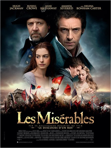 les miserables_hugh jackman_anne hathaway_russell crowe_amanda seyfried_tom hooper_affiche_poster