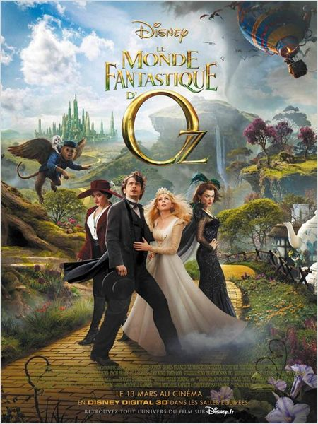 le monde fantastique d'oz_oz the great and powerful_james franco_mila kunis_sam raimi_affiche_poster