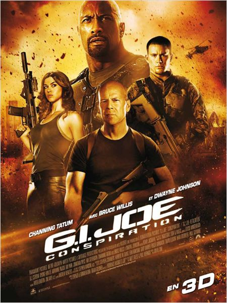 gi joe conspiration_retaliation_dwayne the rock johnson_bruce willis_channing tatum_john m chu_affiche_poster