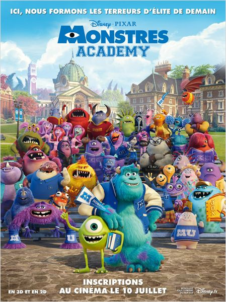 monstres academy_monsters university_john goodman_billy cristal_dan scanlon_affiche_poster