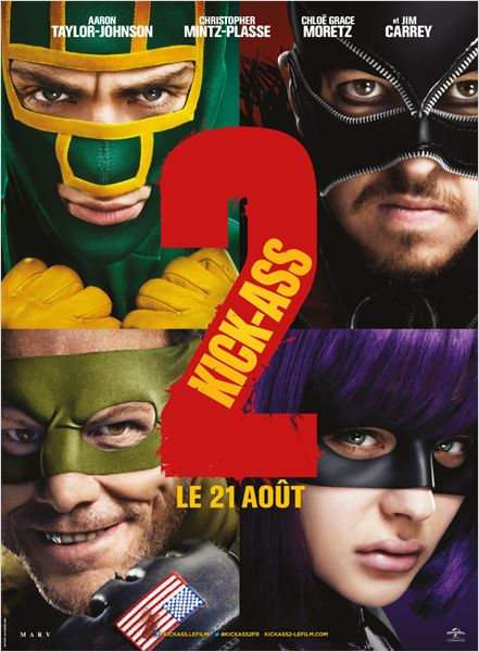 kick-ass 2_aaron johnson_chloe grace moretz_jim carrey_jeff wadlow_affiche_poster