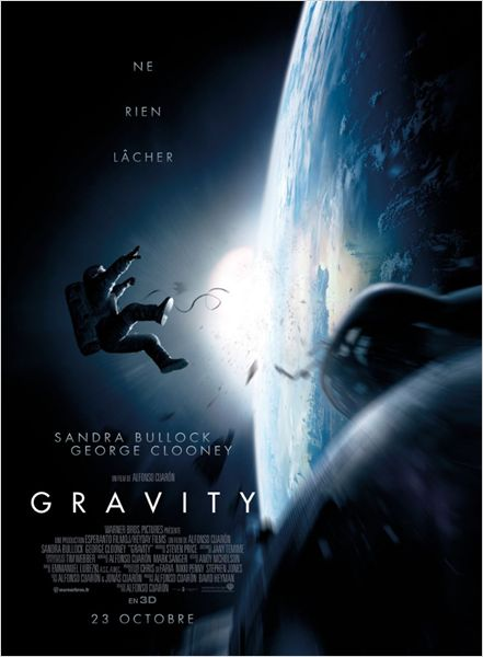 gravity_sandra bullock_george clooney_alfonso cuaron_affiche_poster