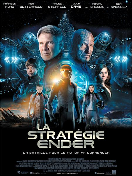 la strategie ender_ender's game_asa butterfield_harrison ford_gavin hood_affiche_poster