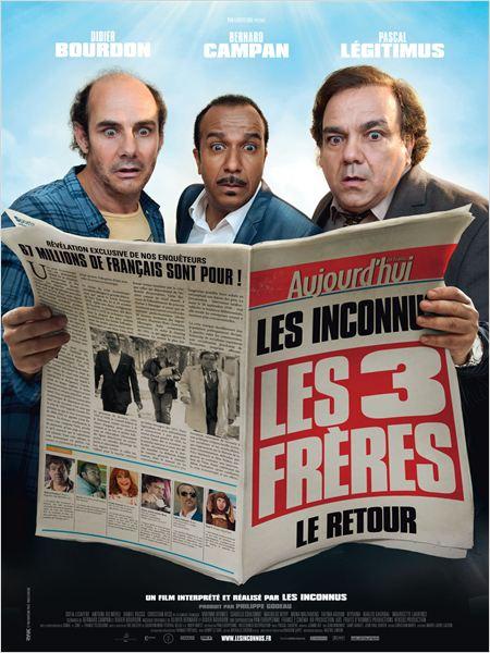 les trois freres le retour_didier bourdon_pascal legitimus_bernard campan_affiche_poster