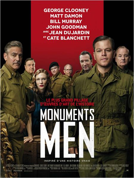 monuments men_george clooney_matt damon_bill murray_jean dujardin_affiche_poster