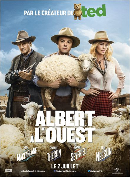 albert a l'ouest_seth macfarlane_charlize theron_liam neeson_affiche_poster