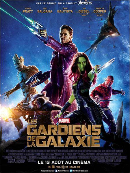 gardiens de la galaxie_chris pratt_zoe saldana_bradley cooper_vin diesel_james gunn_affiche_poster