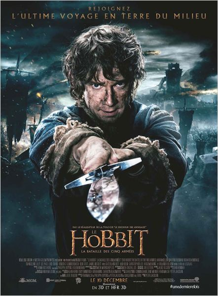 le hobbit la bataille des cinq armees_martin freeman_ian mckellen_peter jackson_affiche_poster