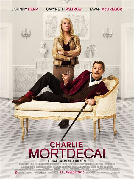charlie mortdecai_johnny depp_gwyneth paltrow_paul bettany_ewan mcgregor_david koepp_affiche_poster