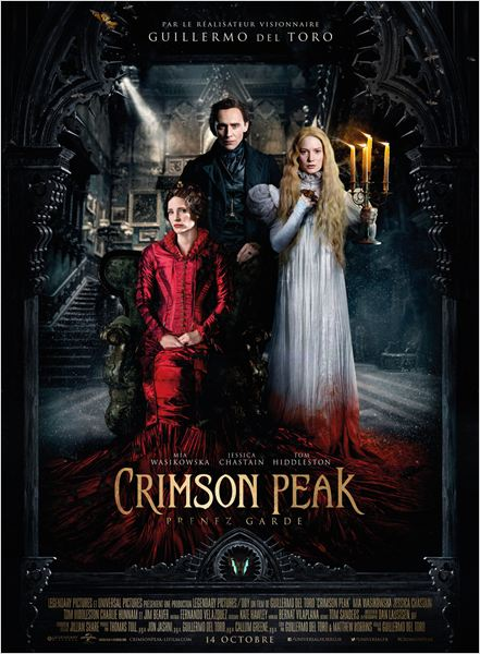 crimson peak_mia wasikowska_jessica chastain_tom hiddleston_guillermo del toro_affiche_poster