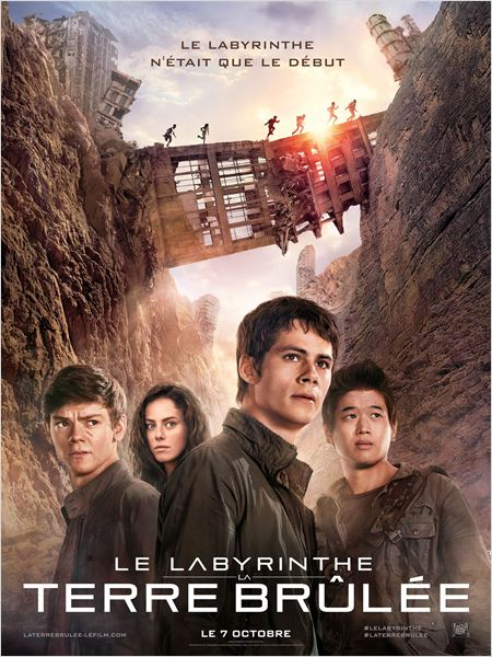 le labyrinthe la terre brulee_dylan o'brien_kaya scodelario_wes ball_affiche_poster