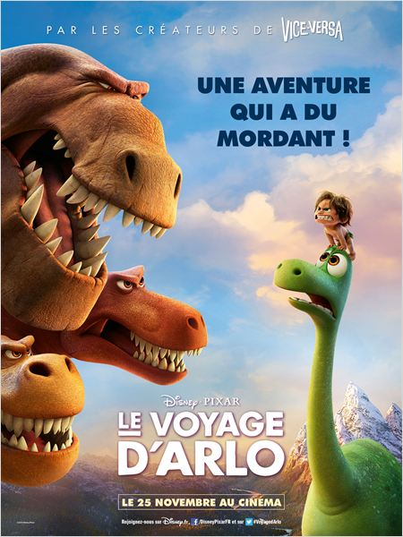 le voyage d'arlo_the good dinosaur_pixar_disney_peter sohn_affiche_poster