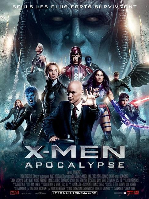 x-men apocalypse_jennifer lawrence_michael fassbender_james mcavoy_bryan singer_affiche_poster