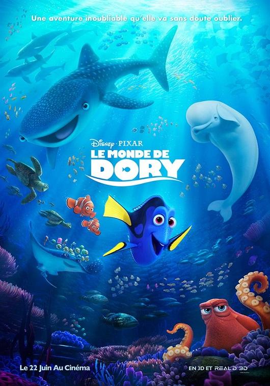 le monde de dory_finding dory_pixar_disney_andrew stanton_affiche_poster