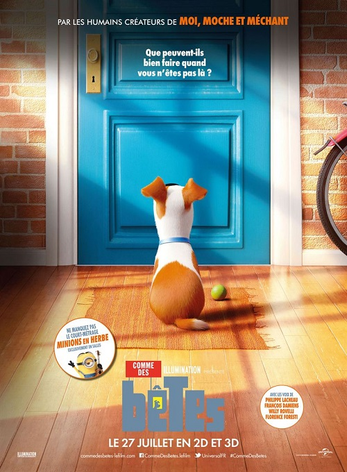 comme des betes_secret life of pets_philippe lacheau_françois damiens_chris renaud_yarrow cheney_affiche_poster