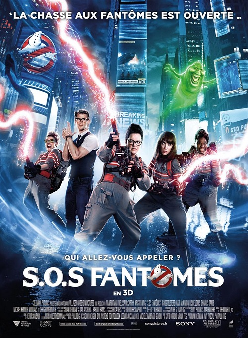 sos fantomes_ghostbusters_melissa mccarthy_kristen wiig_chris hemsworth_paul feig_affiche_poster