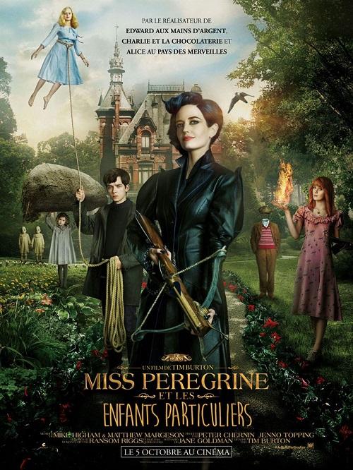miss peregrine et les enfants particuliers_asa butterfield_eva green_samuel l jackson_tim burton_affiche_poster