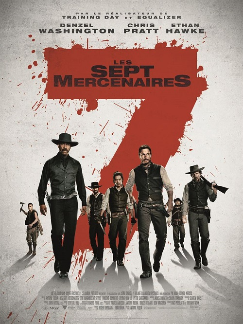 les 7 mercenaires_magnificient seven_denzel washington_chris praat_antoine fuqua_affiche_poster