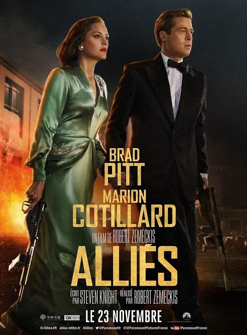 allies_allied_brad pitt_marion cotillard_robert zemeckis_affiche_poster