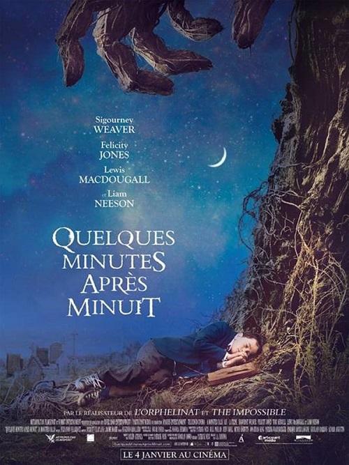 quelques minutes apres minuit_a monster calls_Lewis MacDougall_felicity jones_juan antonio bayona_affiche_poster