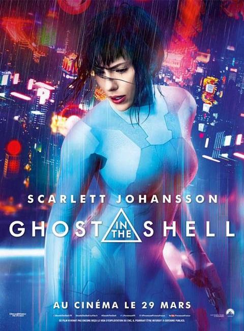 ghost in the shell_scarlett johansson_takeshi kitano_rupert sanders_affiche_poster