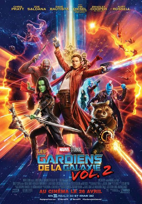 les gardiens de la galaxie 2_guardians of the galaxy vol.2_chris pratt_zoe saldana_kurt russell_james gunn_affiche_poster