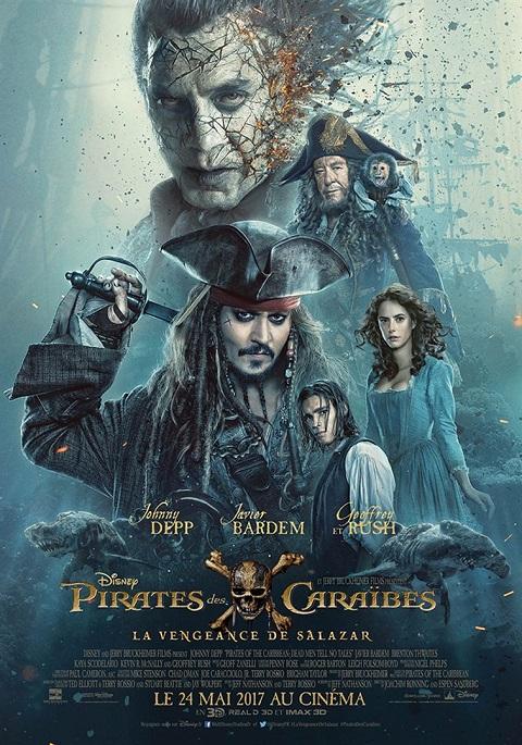 pirates des caraibes la revanche de salazar_dead men tell no tale_johnny depp_javier bardem_ Joachim Ronning_Espen Sandberg_affiche_poster