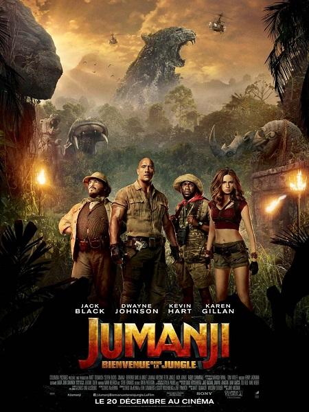 jumanji 2 bienvenue dans la jungle_dwayne johnson_jack black_kevin hart_jake kasdan_affiche_poster
