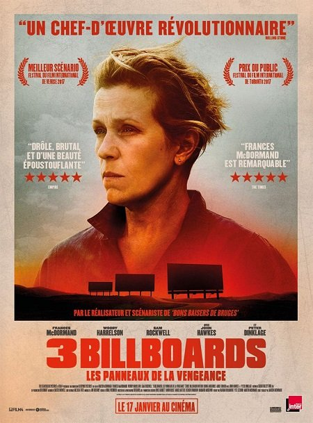 3 billboards_panneaux vengeance_frances mcdormand_woody harrelson_sam rockwell_martin mcdonagh_affiche_poster