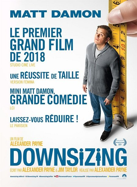 downsizing_matt damon_christoph waltz_alexander payne_affiche_poster