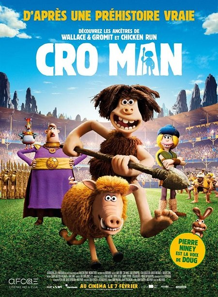 cro man_aardman animations_pierre niney_nick park_affiche_poster