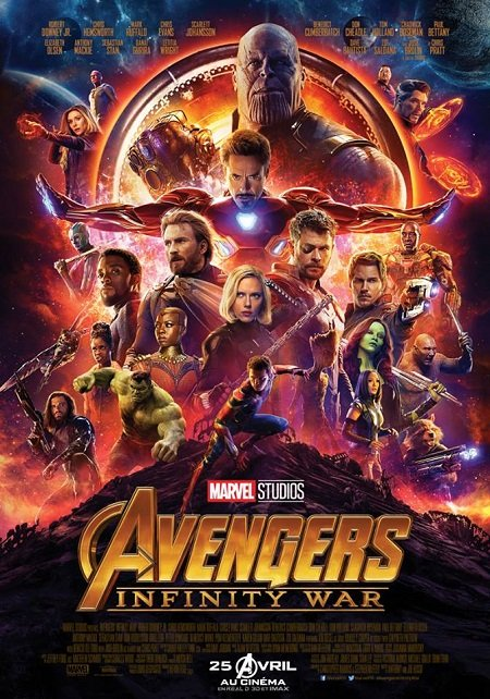 avengers infinity war_robert downey jr_chris evans_josh brolin_anthony russo_joe russo_marvel_affiche_poster