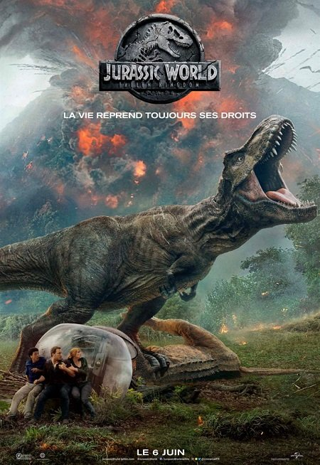 jurassic world fallen kingdom_chris pratt_bryce dallas howard_juan antonio bayona_affiche_poster