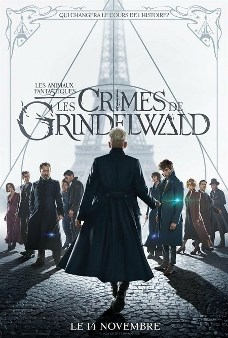 animaux fantastiques crimes de grindelwald_eddie redmayne_johnny depp_david yates_harry potter_affiche_poster