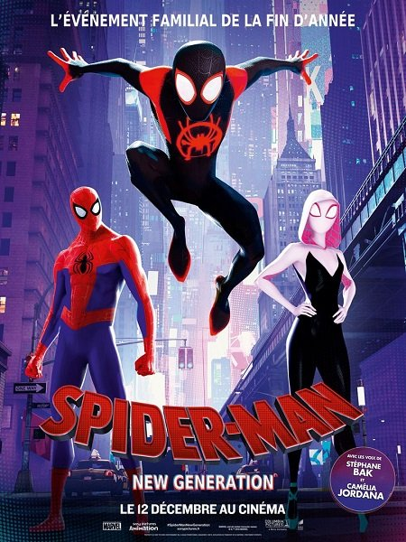 spider-man new generation_into the spider-verse_peter ramsey_marvel_affiche_poster