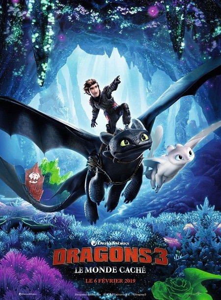 dragons 3 le monde cache_jay baruchel_dean deblois_affiche_poster